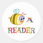Sea un lector pegatinas