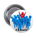 Sea un líder pins