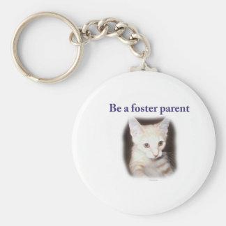 Sea un padre adoptivo llavero redondo tipo pin