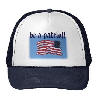 ¡sea un patriota - gorra! gorras de camionero