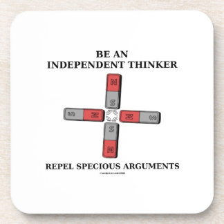 Sea un pensador independiente rechazan discusiones posavasos de bebida