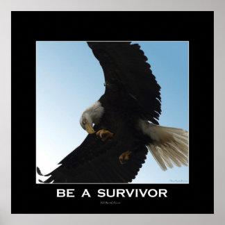 SEA un poster de motivación del SUPERVIVIENTE