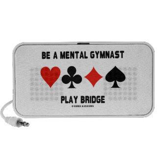 Sea un puente mental del juego del gimnasta (cuatr notebook altavoz