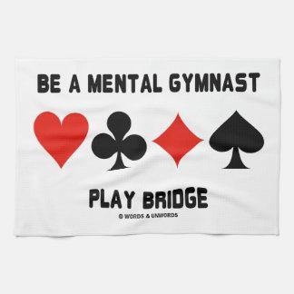 Sea un puente mental del juego del gimnasta toallas de cocina