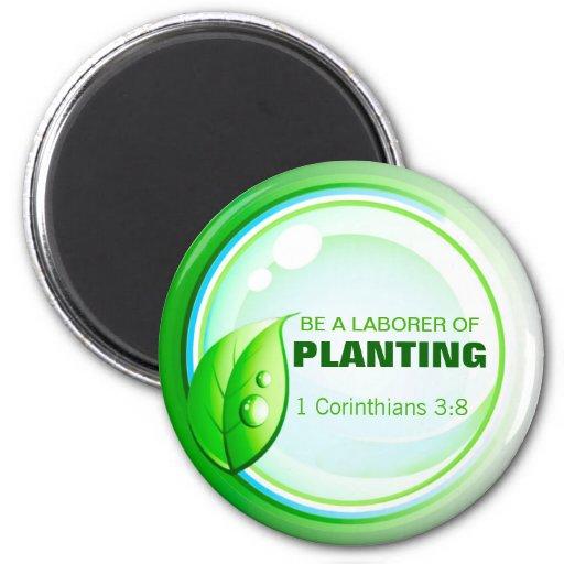 Sea un trabajador de plantar el imán