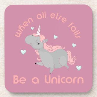 Sea un unicornio posavaso