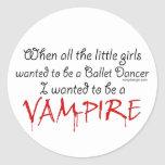 Sea un vampiro pegatinas redondas