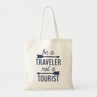 Sea un viajero no una cita turística de la