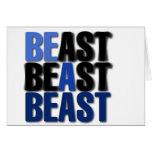 Sea una bestia tarjetas
