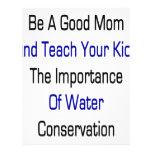 Sea una buena mamá y enseñe sus niños a la importa tarjetas publicitarias