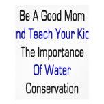 Sea una buena mamá y enseñe sus niños a la importa membrete