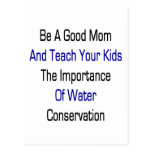 Sea una buena mamá y enseñe sus niños a la importa postales