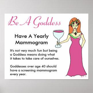Sea una diosa, tenga una diosa BCA del vino del ma Posters