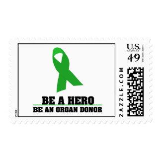 Sea una donación de órganos del héroe estampillas