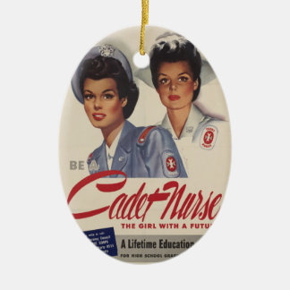 Sea una enfermera del cadete adorno ovalado de cerámica