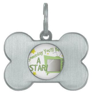Sea una estrella placa mascota