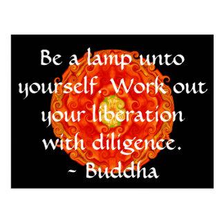 Sea una lámpara a sí mismo Resuelva su liberación Tarjetas Postales