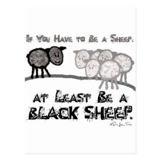 Sea una oveja negra 2 tarjeta postal