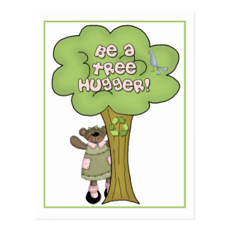 Sea una postal de Hugger del árbol