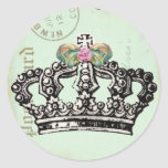 Sea una reina pegatinas redondas