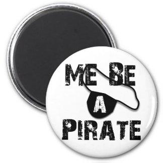 Sea una ropa y regalos del pirata imán redondo 5 cm