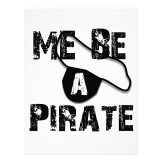 Sea una ropa y regalos del pirata membrete personalizado