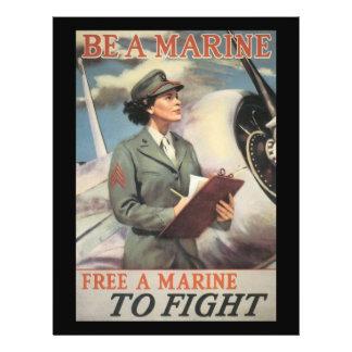 "Sea una Segunda Guerra Mundial marina Folleto 8.5"" X 11"""