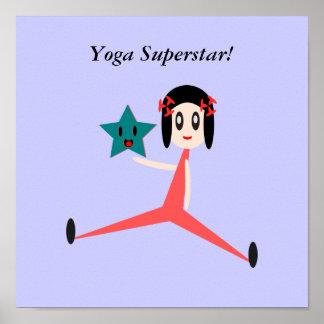 Sea una superestrella de la yoga póster