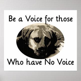 Sea una voz póster