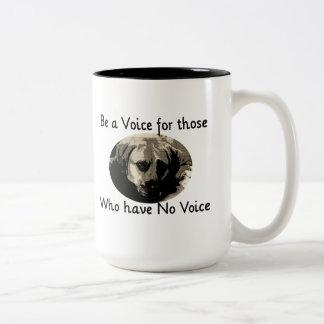 Sea una voz tazas de café