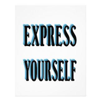 Sea único y expreso usted mismo flyer personalizado