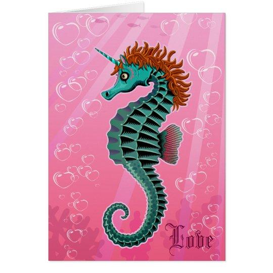Sea Unicorn Card