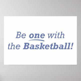 ¡Sea uno con el baloncesto! Póster