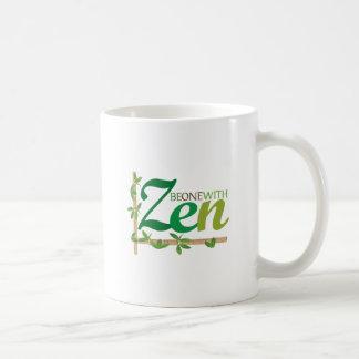 Sea uno con zen taza básica blanca