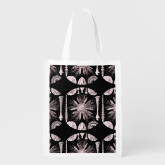 Sea Urchin in Champagne Color Grocery Bag