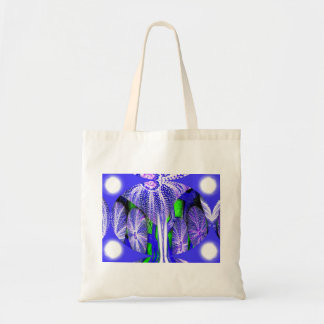 Sea urchins in moonlight tote bag