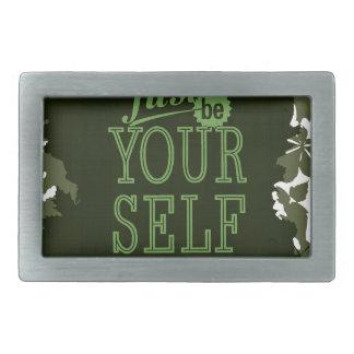 Sea usted mismo de motivación hebilla cinturon rectangular