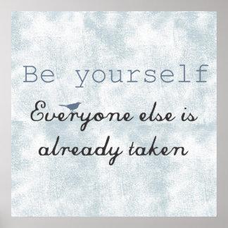Sea usted mismo impresiones