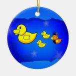 Sea usted mismo pato ornamento para arbol de navidad
