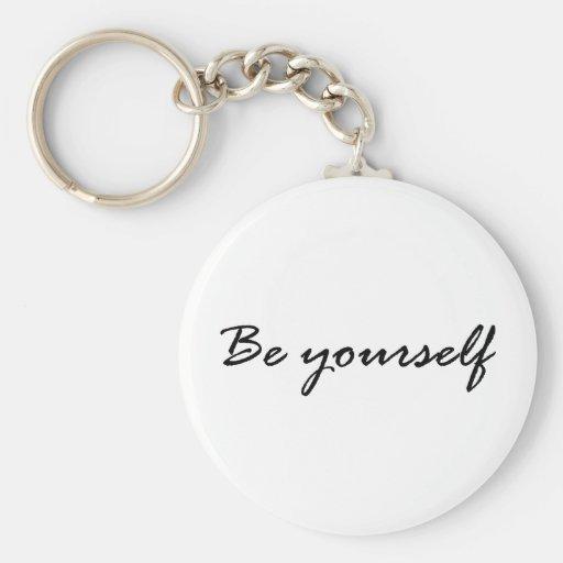 Sea usted mismo regalo llavero personalizado