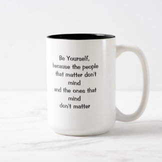 Sea usted mismo taza dos tonos