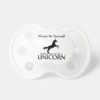 Sea usted mismo unicornio chupetes