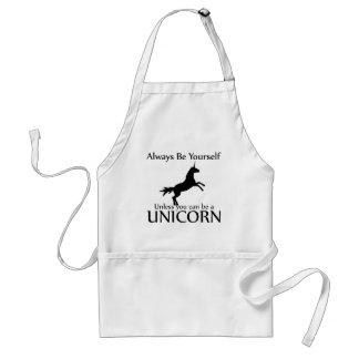 Sea usted mismo unicornio delantal