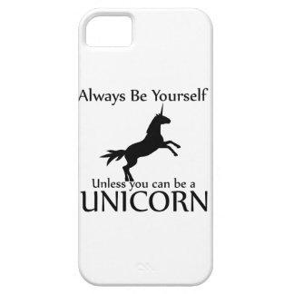 Sea usted mismo unicornio iPhone 5 funda