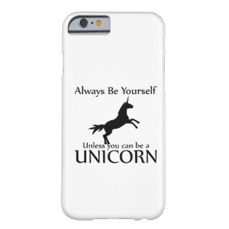 Sea usted mismo unicornio funda de iPhone 6 barely there