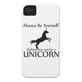 Sea usted mismo unicornio iPhone 4 funda