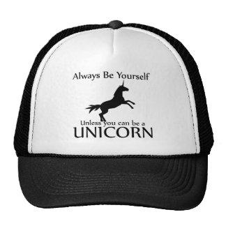 Sea usted mismo unicornio gorra