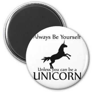 Sea usted mismo unicornio iman de frigorífico