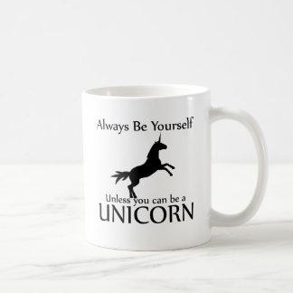Sea usted mismo unicornio taza de café