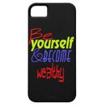 ¡Sea usted mismo y llegado a ser rico! iPhone 5 Protector